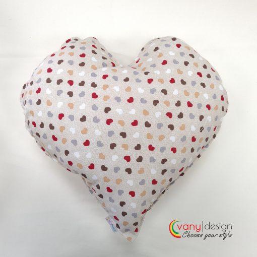 Декоративна възглавница - Сърце - десен: ситни сърца - Vany Design