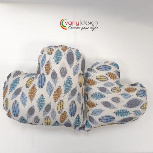 Декоративна възглавница  Сърце - десен: разноцветни листа Vany Design