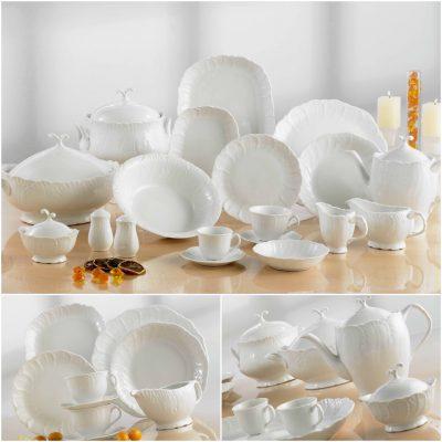 Сервиз за хранене jasmine white – 20 части