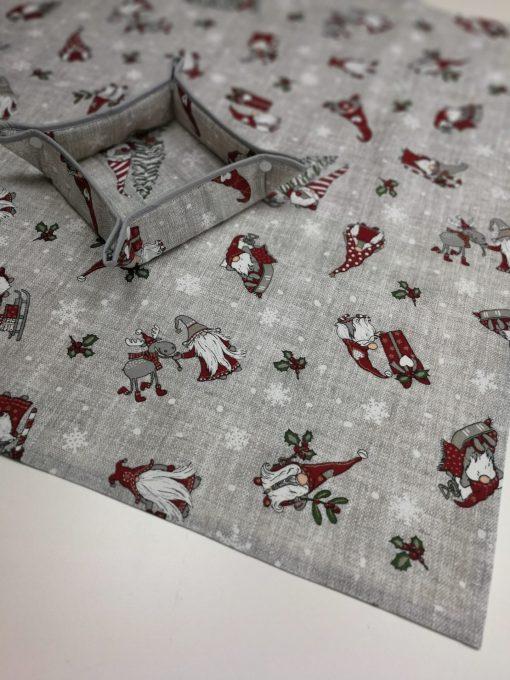 Кръгла покривка за маса – Коледна серия Коледна Усмивка – vany design