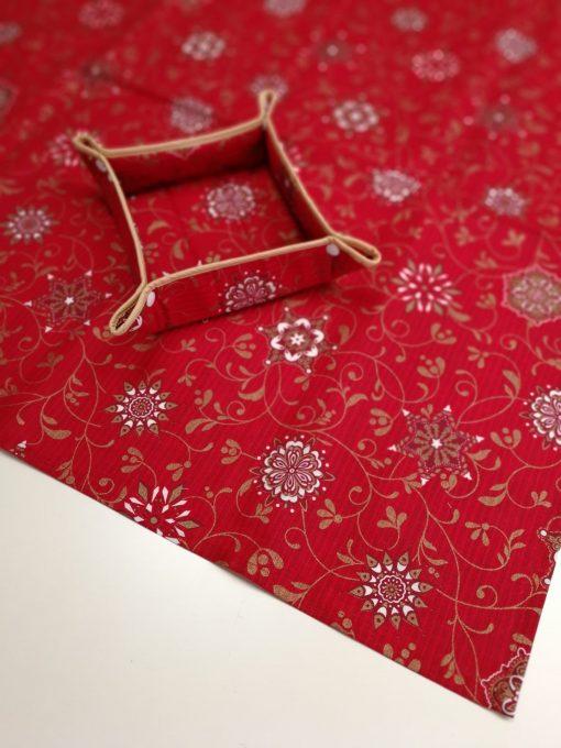 Кръгла покривка за маса - Коледна серия Коледен Уют - Vany Design