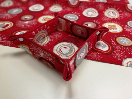 Кръгла покривка за маса - Коледна серия Happy - Vany Design