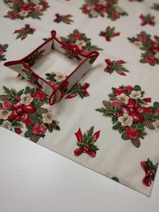 Кръгла покривка за маса – Коледен Венец vany design