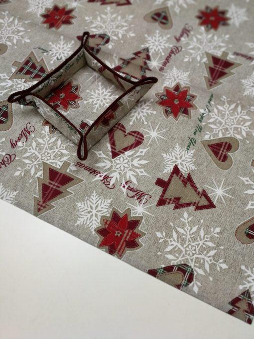 Кръгла покривка за маса - Коледно Дръвче Vany Design