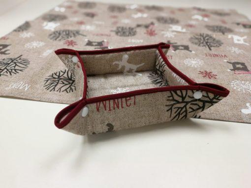 Кръгла покривка за маса – Коледно Еленче vany design