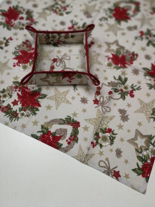 Кръгла покривка за маса - Коледна серия Коледна Звезда - Vany Design