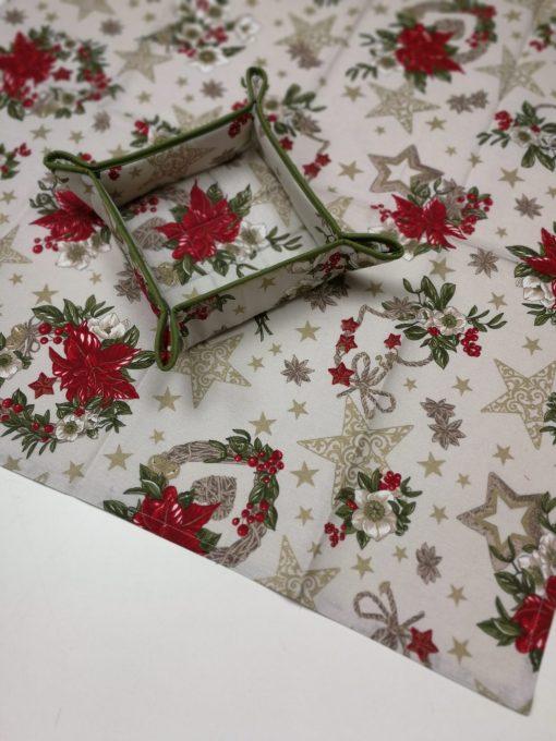Кръгла покривка за маса – Коледна серия Коледна Звезда – vany design