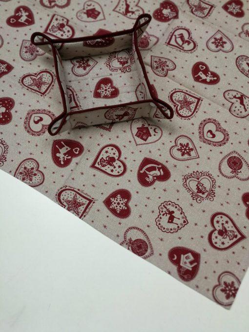 Каре за маса - Коледна серия Червени Сърца - Vany Design