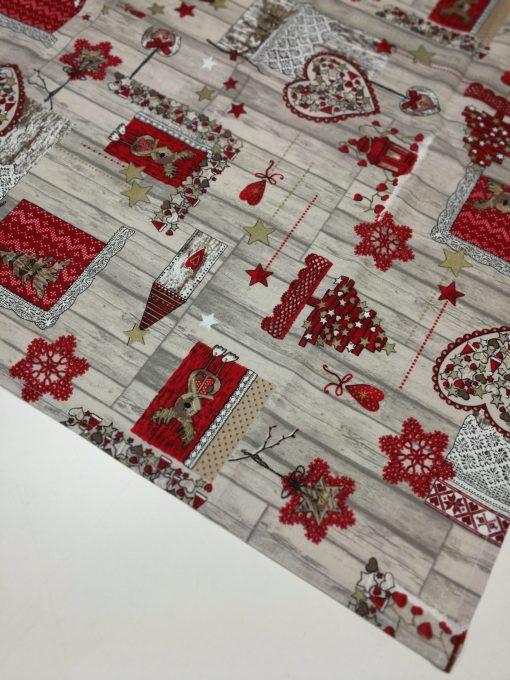 Кръгла покривка за маса – Коледна серия Сърца – vany design