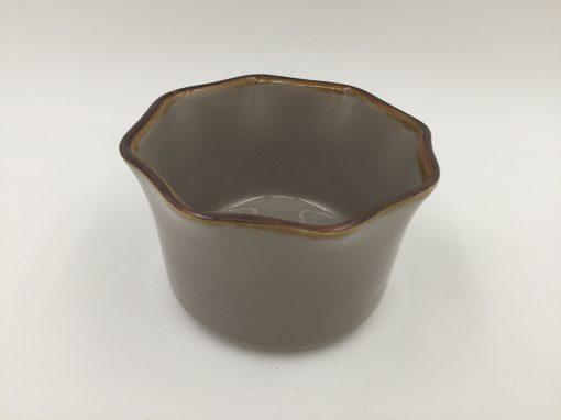Stoneware Brown Color Box Ramekin Round 9cm Set 6pcs