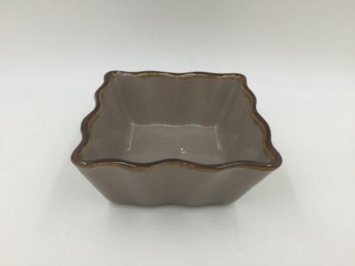 Stoneware Brown Color Box Ramekin Square 12cm Set 6pcs