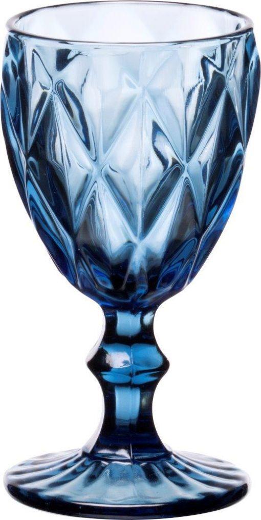 Комплект 6 чаши за вино на столче KARE Blue - 230  ml