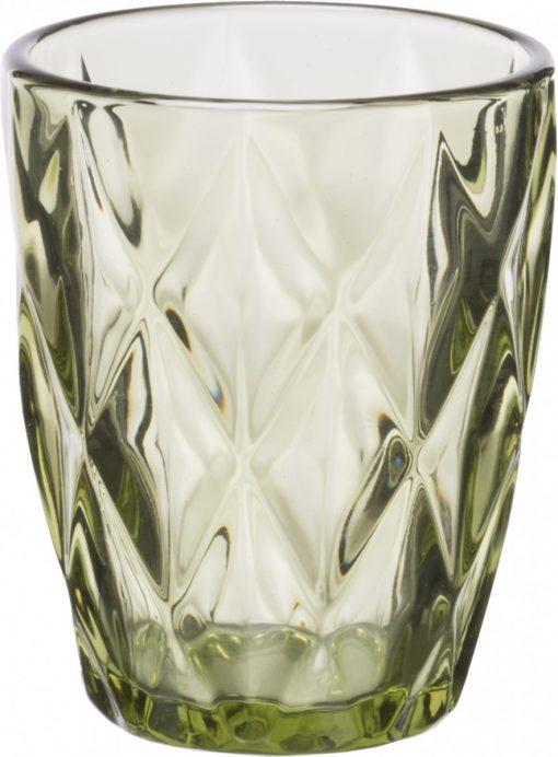 Комплект 6 чаши за уиски KARE Green -  230 ml