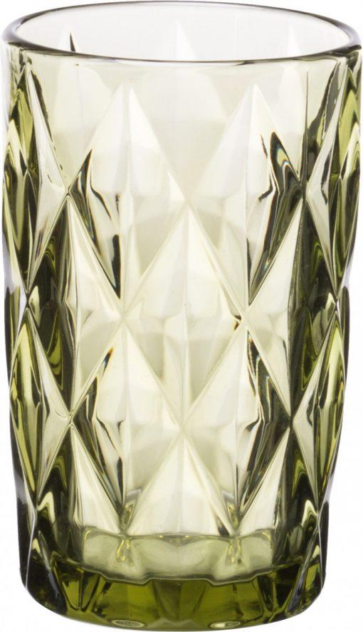 Комплект 6 чаши за вода KARE  Green - 330 ml