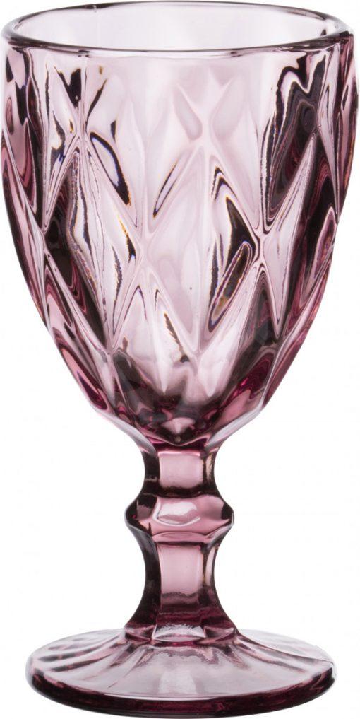 Комплект 6 чаши за вино на столче KARE Purple - 320 ml