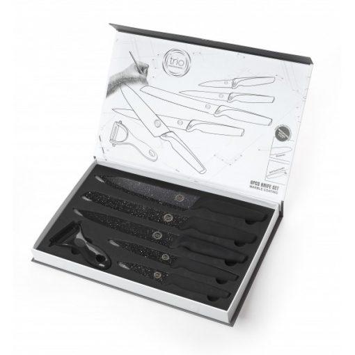 Knife set 5 pieces+Piller Pro - Комплект керамични ножове 6 бр с мека дръжка на допир