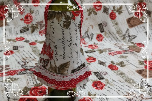 Престилка за бутилка - Винтидж Рози Vany Design