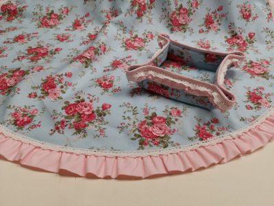 Кръгла покривка за маса shabby chic – Модел 3 Английско Цвете vany design