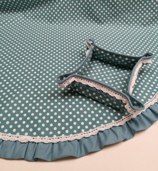 Кръгла покривка за маса Ф 180 с хидрофобирано покритие, стил Shabby chic Vany Design