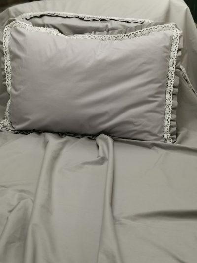 Калъфка за възглавница 100% Ранфорс – Модел 1 Сив vany design