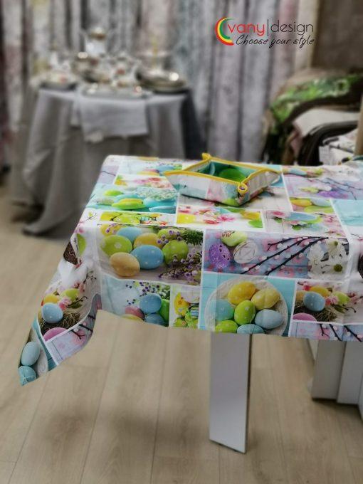 Правоъгълна покривка за маса Великден - Яйца - Vany Design