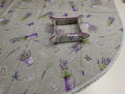 Кръгла покривка за маса Великден Модел 1 – Лавандула vany design