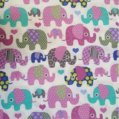 десен на слончета малки и големи с няколко цвята 2 547 800x450