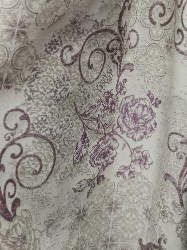 жакард стилизирани цветя лилаво