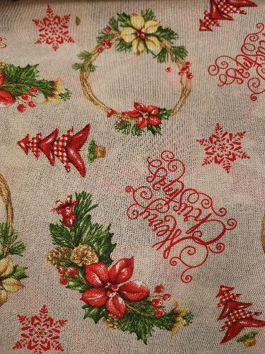 Покривка за маса Merry Christmas 140 ширина до 270 дължина