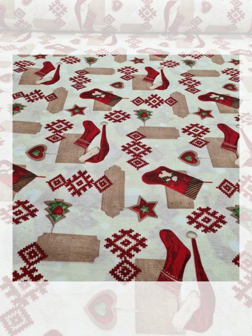 Декоративна възглавница с пълнеж - Коледна шевица