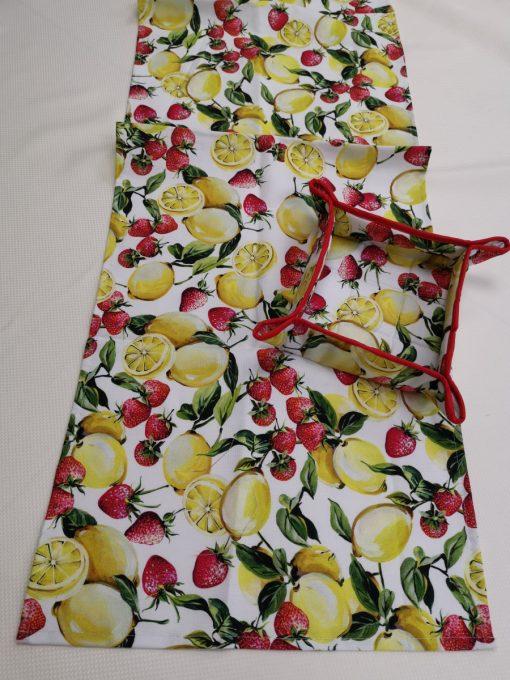 Правоъгълна покривка за маса Лимони и ягоди