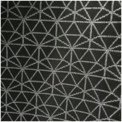 Луксозна покривка за маса - материя жакард - Черно със сребърно ламе