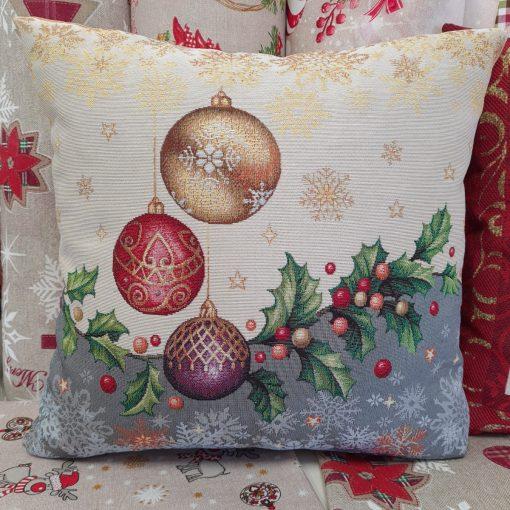 коледна декоративна възглавница с пълнеж Топли пожелания