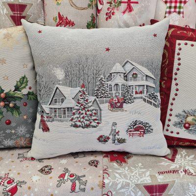 Коледна-декоративна -възглавница