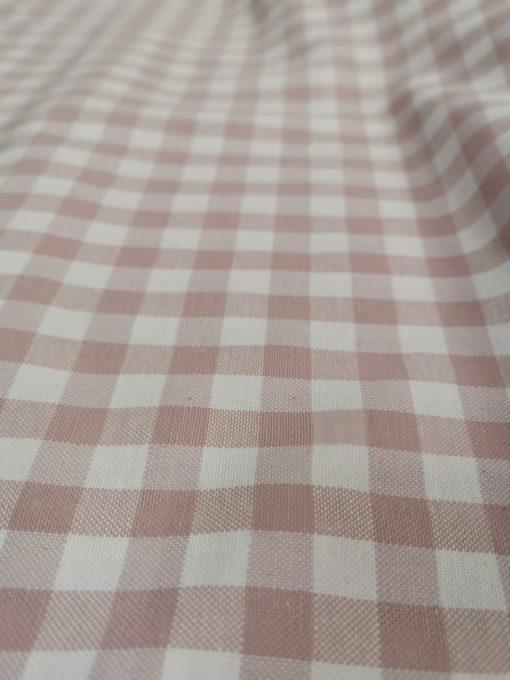 Правоъгълна покривка за маса - Розово каре - Vany Design