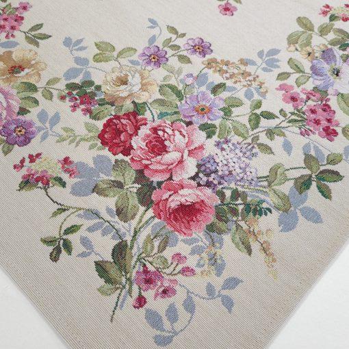 Арт колекция материя жакард - каре за маса 100/100 цветя
