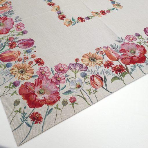 Арт колекция материя жакард - каре за маса 100/100 пролетни цветя