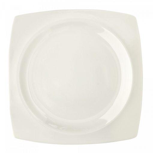 Плоска чиния QUADRO WHITE – 27 см.