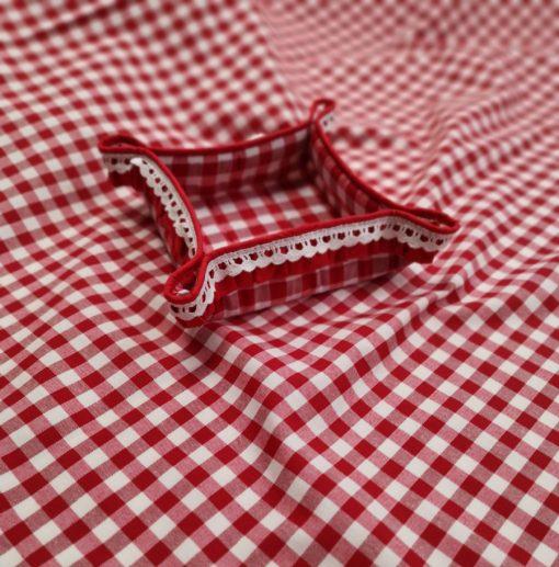 Правоъгълна покривка за маса - Червено каре - Vany Design