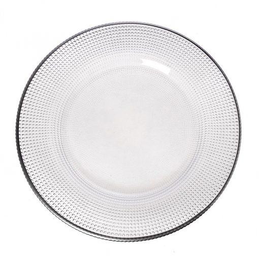 Кръгло плато за сервиране - 33 см Parge Platino
