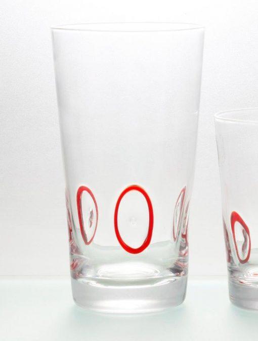 Комплект 6 чаши за вода  - 455 мл серия: Circles - Red