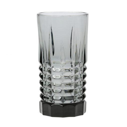 Комплект 6 чаши за вода  - 455 мл серия: Fumio - Smoke glass