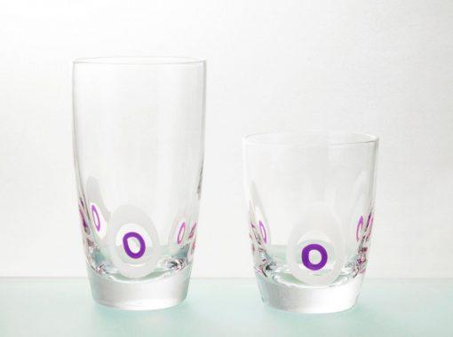Комплект 6 чаши за уиски - 350 мл серия: Poua - Amethyst