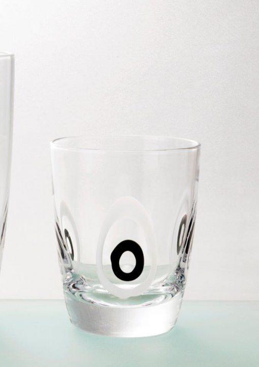 Комплект 6 чаши за уиски - 350 мл серия: Poua - Black