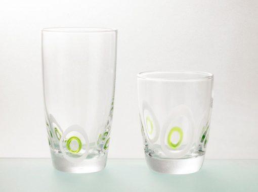 Комплект 6 чаши за вода  - 455 мл серия: Poua - Green