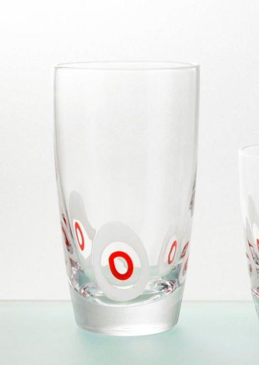 Комплект 6 чаши за вода  - 455 мл серия: Poua - Red