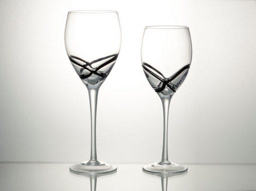 Комплект 6 чаши за вино със столче – 365 мл серия:  X - tream Black