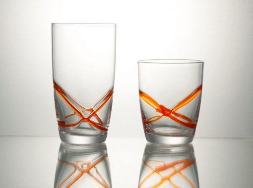 Комплект чаши за вода 6 бр  - 455 мл серия: X - tream Orange