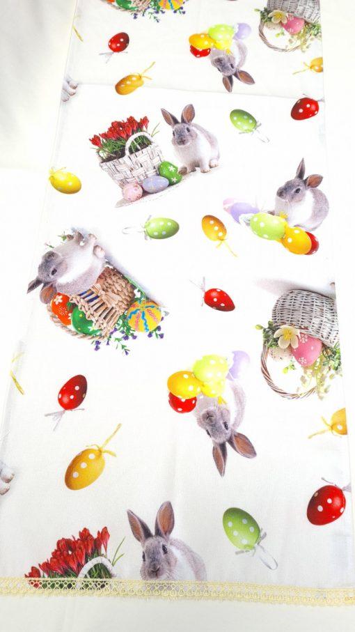 Тишлайфер за маса с добавена дантела - Великден, десен 01