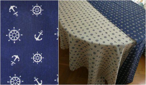Правоъгълна покривка за маса Котви на син фон Vany Design